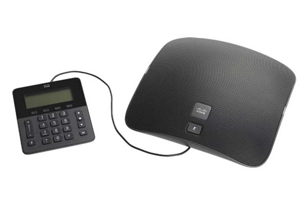 8831 Conference Phone, a speaker phone with attached keypad, ideal for medium to large conference rooms. Departments can purchase a conference phone through ITS - contact the Help Desk for details.